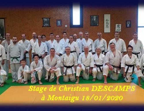 Stage de karaté avec Christian DESCAMPS, 7e dan, du samedi 18 janvier 2020 à Montaigu