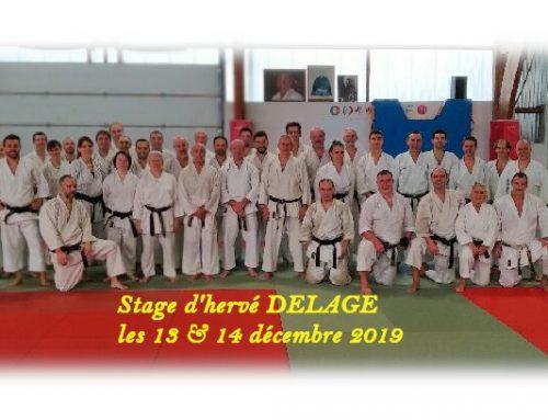 Stage d'Hervé DELAGE – 7e dan, les 13 et 14 décembre 2019