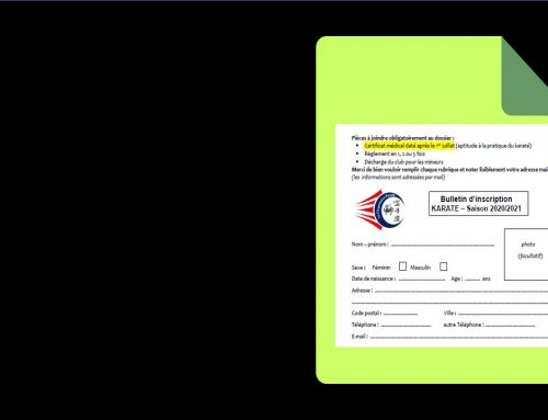 Les dossiers d'inscription pour la saison 2020-2021 sont à votre disposition sur le site